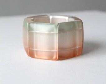 vintage ombre bangle, chunky geometric linked bracelet