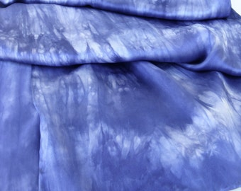 sale  ...   hand dyed silk charmeuse scarf  ... shades of deep periwinkle