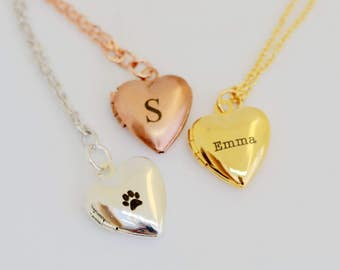 Personalized Heart Mini Locket Necklace,, locket,Jewelry,Pendant Necklace,Locket,Bridesmaid Necklace,Wedding