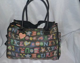 Dooney & Bourke~Vintage Dooney Bourke Bag~ Speedy Logo Satchel~ Bag Handbag