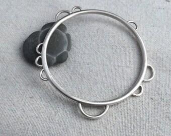 Silver Bubble Bangle