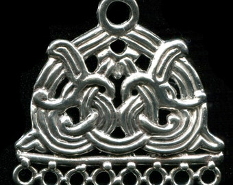 Viking Norse Borre Style Chain Spreader, Bead Hanger, Chatelaine - 5305S