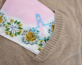 Hand Embroidered Snarky Hankie Middle Finger Hankie Rude Embroidery Break Up Gift Divorce Gift Modern Vintage Handkerchief