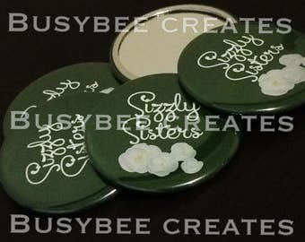 Custom Button Pocket Mirrors - Promotional Party Giveaways - Custom Favours for Marketing - Handmade Giveaways 10pcs