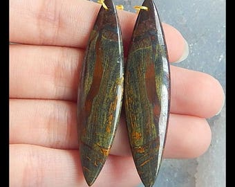 New,Iron Tiger'eye Gemstone Earring Bead,54x13x5mm,9.9g