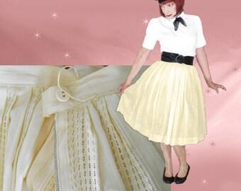 1950s Rockabilly Full Skirt - Vintage Skirt with Crinoline - 50s Retro - Mint Condition