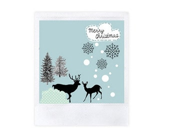 4 merry Christmas cards