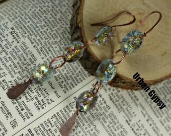 E 154 Long Dangle Dance Glitz Earring Swing Movement  Urban Gypsy Earring