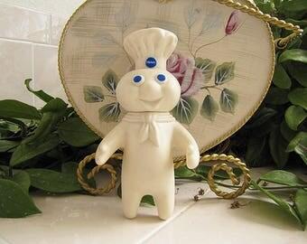 Vintage Pillsbury Doughboy, Poppin Fresh Dough boy toy doll, 1971 Edition