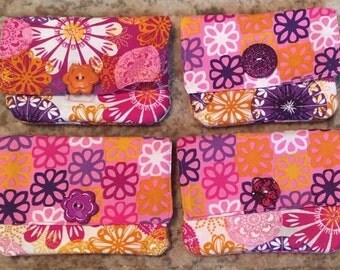 4 different cotton wallets