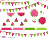 40% OFF SALE Watermelon Clip Art - Digital Clipart - Instant Download - Commercial Use