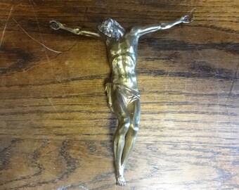 Vintage French Jesus Cross Crucifix Christian Catholic circa 1960's / English Shop