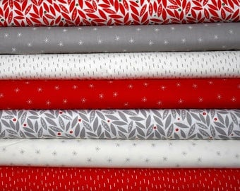 Merrily Fat Quarter Bundle of 7 by Stacie Bloomfield of Gingiber for Moda