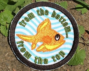 Theme from the Bottom, handmade Phish iron on patch... Don't you see anything that you'd like to try?  Made from Recycled Materials! OOAK
