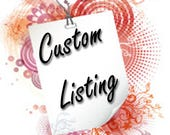 Custom Listing for Kristy Goodman