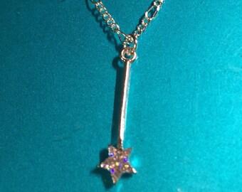 Petite Fairy Princess wand necklace