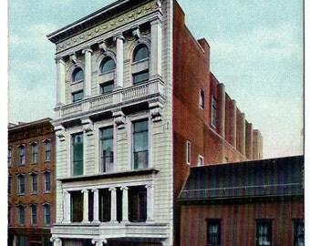 Syracuse N.Y. Elks Club Building Postcard, BPOE New York, Downtown Temple, Antique Souvenir Ephemera c1920, FREE SHIPPING