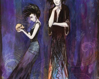 Sandman and Death Homage - 11x17 print