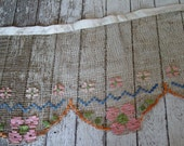 OMG,,,Beautiful Antique Metallic Gold Mesh Swag with Woven Silk flower design, STUNNING