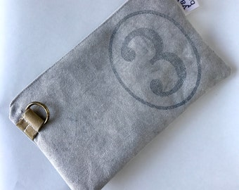 3 - reconstructed vintage US mail bag small pouch