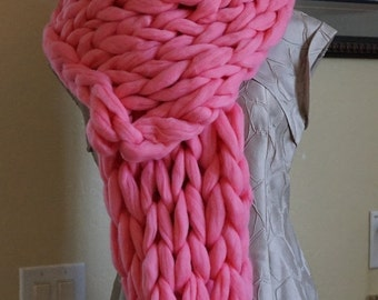 CHRISTMAS SALE Knitted Scarf,  Wool Scarf, Super Soft Scarf, Gift for Woman, Big Chunky Scarf, Valentine's Day Gift, Christas Gift