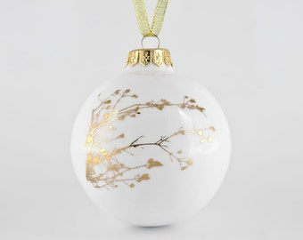 Christmas Bauble, Christmas Ornament with Twig, Luxury Christmas Decoration