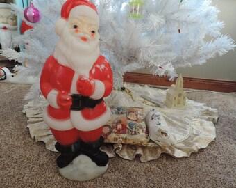 Santa Blow Mold Light Up Santa Santa Clause Vintage Blow Mold Holiday Decor Vintage Christmas Santa Blow Mold Indoor Outdoor Christmas
