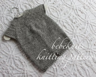 Bebeknits French Style Baby Romper Knitting Pattern