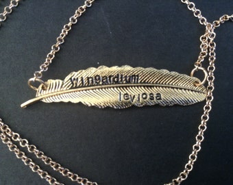 Harry Potter Wingardium Leviosa Feather Necklace