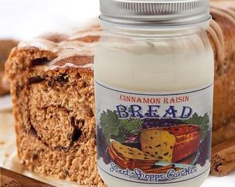 16 ounce Cinnamon Raisin Bread Jar Candle