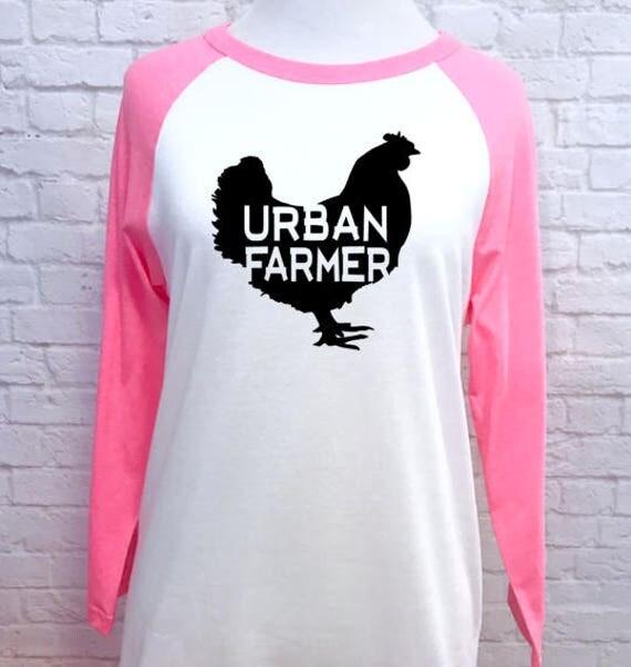 URBAN FARMER unisex baseball style t-shirt