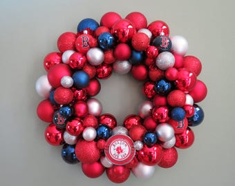 BOSTON RED SOX Ornament Wreath