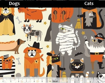 Boo Crew, Cats, Dogs, Blend Fabrics, 1/2 Yard