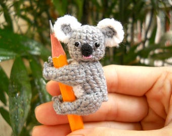 Mini Koala Bear - Crochet Miniature Bear Stuffed Animals - Made To Order