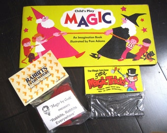 Child's Play Magic An Imagination Book Illustrated by Pam Adams 1978,  and Magic Tricks