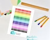 Study and Homework Planner Headers Printable Sticker Sheet for Erin Condren, Mambi Happy Planner, Kikki K