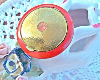 Antique Compact Helena Rubenstein Valaze SIGNED Original Puffs Collect RARE!
