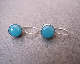 Chalcedony Sterling Silver Earrings