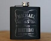 Personalized Birthday Flask