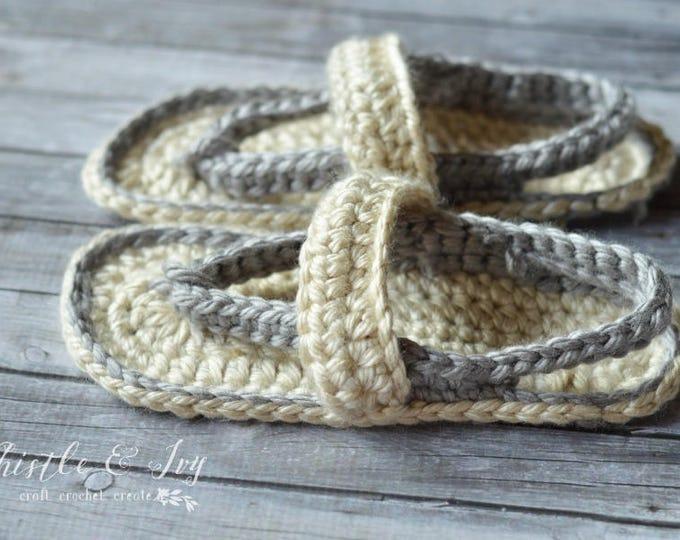 Chunky Flip-Flops Slippers Crochet Pattern PDF DOWNLOAD