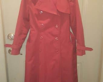 vintage rust  trenchcoat