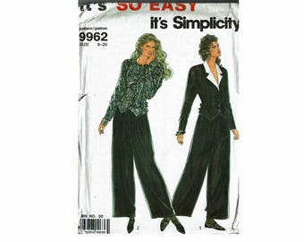 It's So Easy Tops and Pants Uncut Sewing Pattern from 1990s Simplicity 9962 Multi sizes 8-20