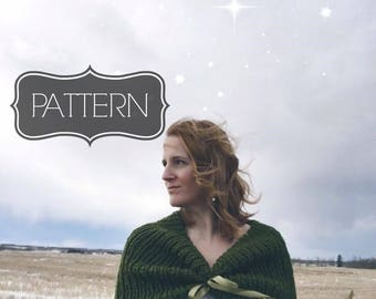 Knit Wedding Wrap Pattern | Knit Bridal Cowl Pattern | Knit Wedding Shrug Pattern | Knit Wedding Wrap Pattern | Knit Bridal Shrug Pattern
