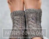 KNITTING PATTERN // Yoga Socks // Yoga Sock Pattern // Knit Yoga Socks // Toeless Socks // Socks // Knit Socks