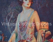 CLOSING SHOP SALE 1920s Art Deco Felted Blotter with 20s Flapper Lady for Ink Westinghouse Lamps Deco Gatsby 2-31