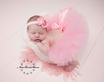 Pink Tutu, Pink Newborn Tutu, Pink Baby Tutu, Tutus for children, Flower Girl tutu, 1st birthday tutus, birthday tutu, mommy and me tutus