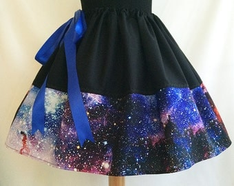Galaxy Skirt, Galaxy Print, Skirt, Space Skirt By Rooby Lane