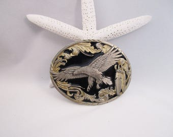 American Eagle Belt Buckle Native American. Siskiyou Buckle. free US shipping- FL