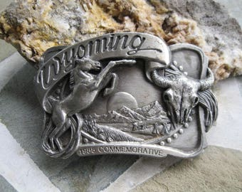 Wyoming Belt Buckle. Siskiyou Buckle Co. Free US Shipping