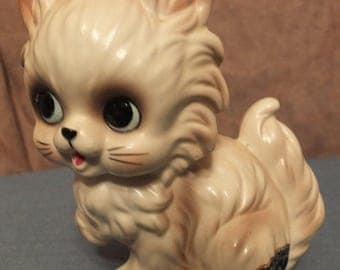 Josef Originals White Cat Kitten Figurine